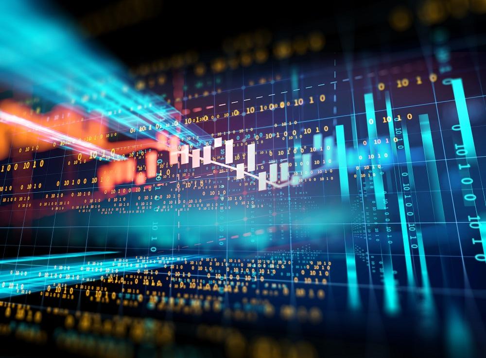 abstract financial graph