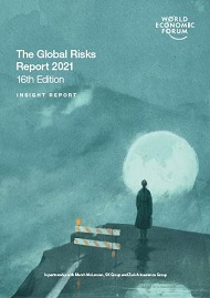 Cover for the Global Risks Report, 2021